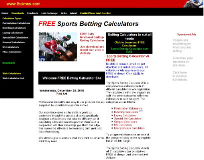 betting calculator horse racing