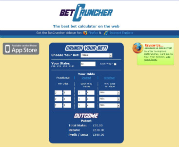 horse racing bet calculator