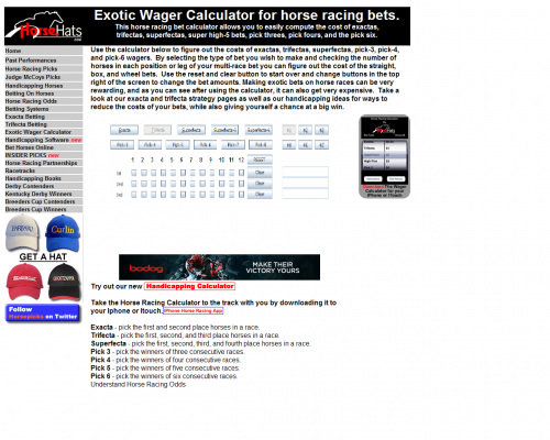horse racing odds calculator