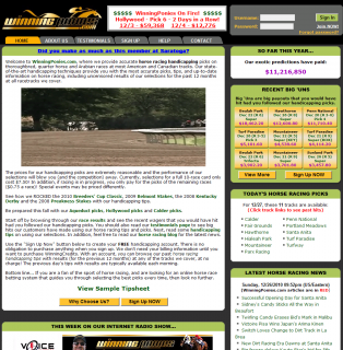 Winning Ponies Website